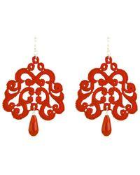 Tita' Bijoux Nuage Red Lace Earrings - Lyst