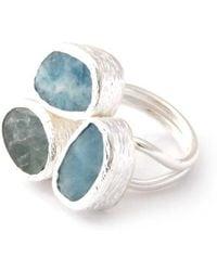 Toosis Aquamarine Silver Ring - Lyst