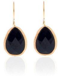 Toosis Black Onyx Drop Earrings in Gold - Lyst