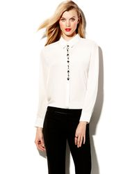 Vince Camuto Center Front Jewel Blouse - Lyst