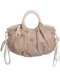 Alexandra De Curtis Audrey Tote Beige and Cream - Lyst