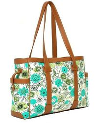Alexandra De Curtis Gaia Green Flowers and Biscuit Leather - Lyst