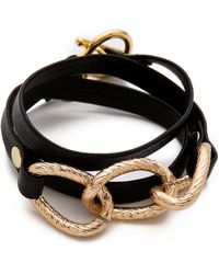 Gorjana | Parker Leather Wrap Bracelet | Lyst