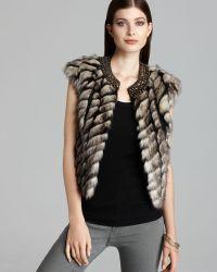Twelfth Street Cynthia Vincent Vest Embellished Faux Fur - Lyst