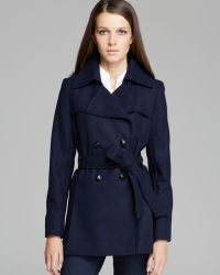 Via Spiga - Scarpa Double Breasted Wool Blend Coat - Lyst