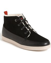 Bugatchi Shearling Lined Sneaker - Lyst