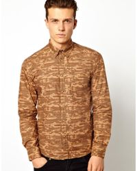 Asos Dansk Shirt with Camo Overprint - Lyst