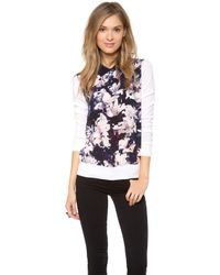 Paul Smith Black Label - Magnolia Silk Front Jumper - Lyst