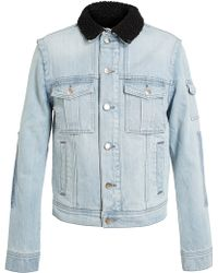 Filles A Papa - Shearling Lined Denim Jacket - Lyst
