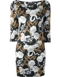 Philipp Plein Printed Dress - Lyst