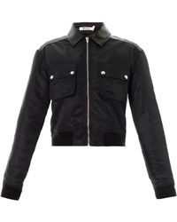 T By Alexander Wang - Leather Panel Jacket - Lyst