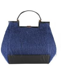 Vionnet Leather and Ponytail Bag - Lyst