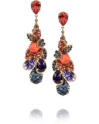 Bijoux Heart - Fruit De Mer Goldplated Swarovski Crystal Earrings - Lyst