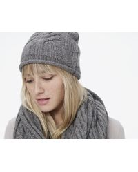 James Perse - Cable Knit Beanie - Lyst