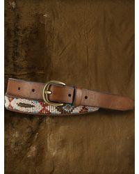 Denim & Supply Ralph Lauren - Beaded Motif Leather Belt - Lyst