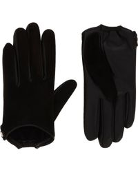Givenchy Suede and Leather Gloves - Lyst