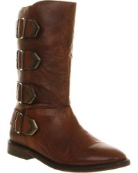 H by Hudson Lock Tall Buckle Boot - Lyst