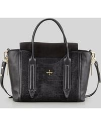 Pour La Victoire Provence Embossed Calf Hair & Leather Tote Bag - Lyst