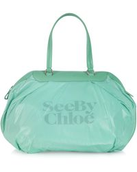 Chloé Nylon and Leather Tote - Lyst