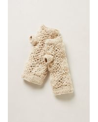Anthropologie - Handcrocheted Fingerless Gloves - Lyst