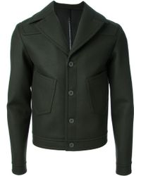 Balenciaga Buttoned Jacket - Lyst