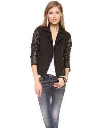 Bec & Bridge - Boucle Leather Bomber Jacket - Lyst