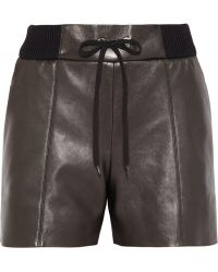 Chloé Leather Shorts - Lyst