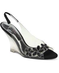Nina Mahli Evening Wedge Sandals - Lyst
