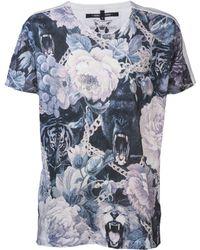 Sons Of Heroes Jungle Print Tshirt blue - Lyst