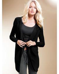 Victoria's Secret A Kiss Of Cashmere Luxe Drape Cardigan Sweater Grey L - Lyst
