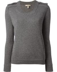 Burberry Brit Epaulette Sweater - Lyst