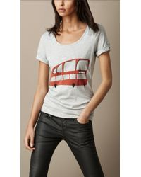 Burberry London Graphic Cotton T shirt - Lyst
