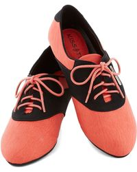 ModCloth Tuned in Flat in Pink - Lyst