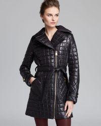 Via Spiga - Coat Quilted Asymmetric Zip Belted - Lyst