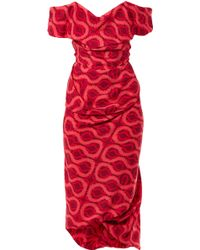 Vivienne Westwood Gold Label Exclusive Cocotte Squiggleprint Dress pink - Lyst