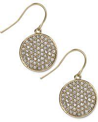 Lauren by Ralph Lauren - 14k Goldplated Crystal Pave Drop Earrings - Lyst