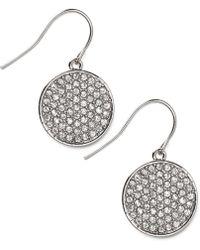 Lauren by Ralph Lauren - Silver-Tone Crystal Pave Drop Earrings - Lyst