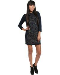 Nicole Miller Harmony Heat Ponte Dress - Lyst