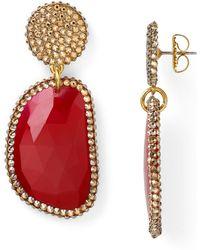 Roni Blanshay - Red Quartz Slice Earrings - Lyst