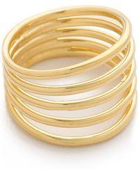 Sarah Chloe | Geo Multi Ring - Gold | Lyst