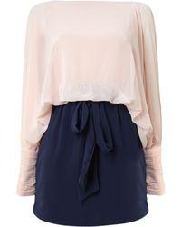 Sodamix - Colour Block Chiffon Dress - Lyst