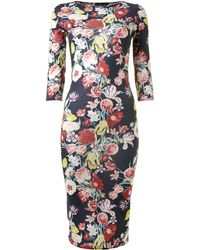 Sodamix - Winter Floral Midi Dress - Lyst
