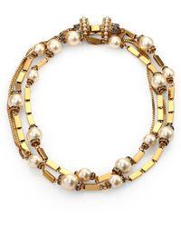 Aerin Erickson Beamon - Crystal Bead Link Necklace - Lyst
