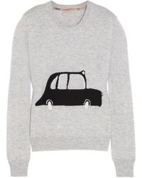 Burberry Brit Taxiintarsia Wool and Cashmereblend Sweater - Lyst