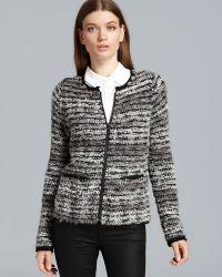 C By Bloomingdale's - Bouclé Zip Front Jacket - Lyst