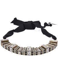Lanvin - Marie Laure Crystal Embellished Necklace - Lyst