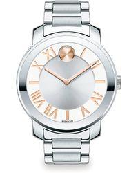 Movado Bold Luxe Stainless Steel Bracelet Watch/39Mm - Lyst