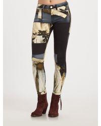 Acne Studios Printed Skinny Jeans - Lyst