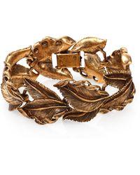 Aerin Erickson Beamon - Antiqued Leaf Bracelet - Lyst