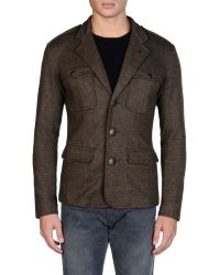 Armani Jeans Three Buttons Jacket - Lyst